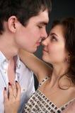 Pares sexuales hermosos en amor Imagen de archivo