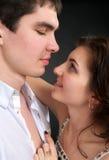 Pares sexuales hermosos en amor Imágenes de archivo libres de regalías