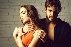 Pares 'sexy' de amantes imagens de stock royalty free