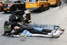 Pares sin hogar Foto de archivo