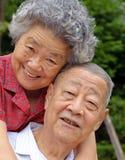 Pares sênior felizes Foto de Stock Royalty Free