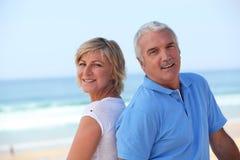 Pares sênior felizes Fotos de Stock Royalty Free