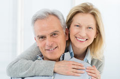Pares superiores felizes Fotos de Stock Royalty Free
