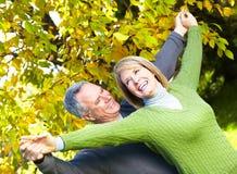 Pares superiores felizes. Fotos de Stock Royalty Free