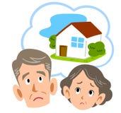 Pares superiores incomodados em casa ilustração royalty free