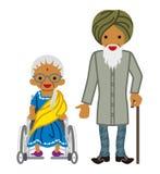 Pares superiores - indiano ilustração do vetor
