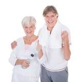 Pares superiores saudáveis felizes Fotografia de Stock Royalty Free