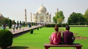 Pares turísticos, Taj Mahal, la India metrajes