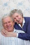 Pares velhos felizes Foto de Stock Royalty Free