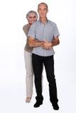 Pares velhos felizmente casados Fotografia de Stock