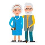 Pares velhos - homem e mulher Foto de Stock Royalty Free