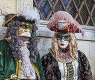 Pares venecianos Imágenes de archivo libres de regalías