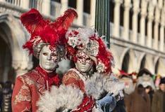 Pares Venetian Fotografia de Stock Royalty Free