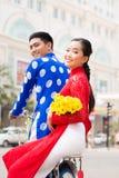 Pares vietnamitas felices Imagenes de archivo