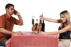 Pares virados dos restaurantes Imagens de Stock