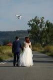 Pares y abejón de la boda Imagen de archivo libre de regalías
