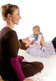 Pares y bebé felices Fotos de archivo libres de regalías