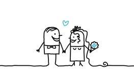 Pares y boda Imágenes de archivo libres de regalías