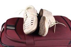 Pares y bolso de los zapatos Imagenes de archivo
