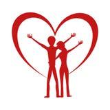 Pares y corazón románticos libre illustration