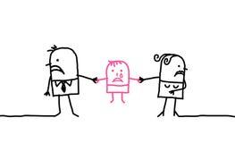 Pares y divorcio stock de ilustración