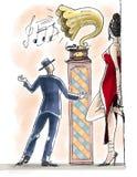 Pares y gramófono Foto de archivo libre de regalías