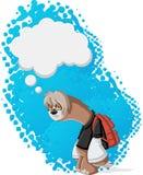 Paresse paresseuse de bande dessinée Images libres de droits