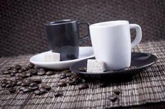 paret cups espresso Arkivfoto