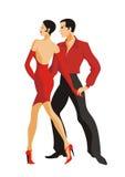 Paret dansar en tango Royaltyfri Fotografi