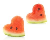 paret pieces vattenmelonen Royaltyfri Fotografi