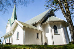 Parete ad ovest della chiesa di Trømborg Fotografia Stock Libera da Diritti