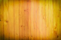 Parete allineata con le plance di legno Fotografia Stock Libera da Diritti