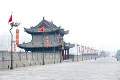 Parete antica della città di Xi'an fotografia stock libera da diritti