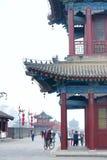 Parete antica della città di Xi'an fotografia stock