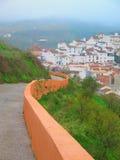 Parete arancio a Alora, Andalusia Fotografie Stock