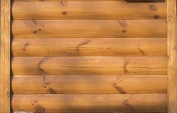 Parete arancio di legno fotografia stock
