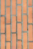 Parete arancio e marrone fatta del mattone per gli ambiti di provenienza e strutture Immagine Stock