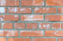 Parete arancio e marrone fatta del mattone per gli ambiti di provenienza e strutture Fotografie Stock