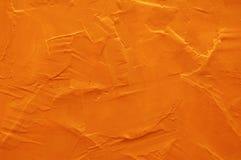Parete arancione Fotografia Stock