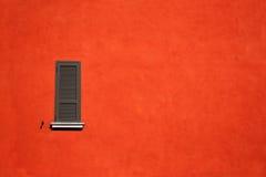 Parete arancione Fotografie Stock Libere da Diritti