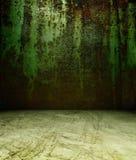 parete arrugginita del metallo 3d Fotografie Stock Libere da Diritti