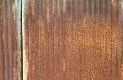 Parete arrugginita del metallo Fotografie Stock