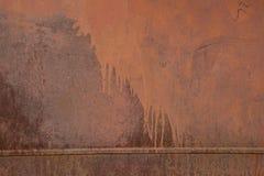 Parete arrugginita del metallo Vecchia struttura arrugginita del plategrunge del metallo Fotografia Stock