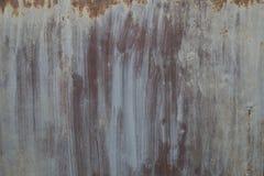 Parete arrugginita del metallo Vecchia struttura arrugginita del plategrunge del metallo Immagine Stock