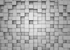Parete astratta del cubo Fotografia Stock Libera da Diritti