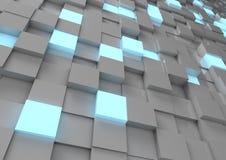 Parete astratta del cubo Fotografie Stock Libere da Diritti