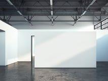 Parete bianca in bianco rappresentazione 3d Fotografia Stock Libera da Diritti