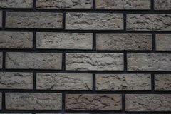parete bianca dei mattoni con un fondo grigio del mattone della tinta fotografie stock