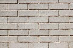 Parete bianca del brickwall dei mattoni del calcestruzzo prefabbricato Fotografie Stock