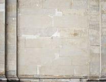 Parete bianca dello stucco di costruzione storica Fotografie Stock Libere da Diritti